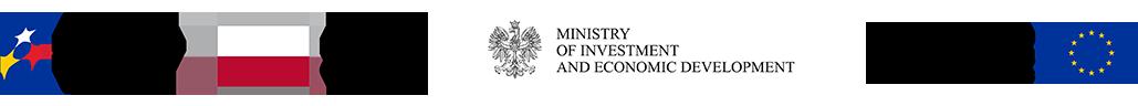 Zestawienie znaków: Fundusze Europejskie, Barwy Rzeczypospolitej Polskiej, Ministerstwo Inwestycji i Rozwoju, Unia Europejska