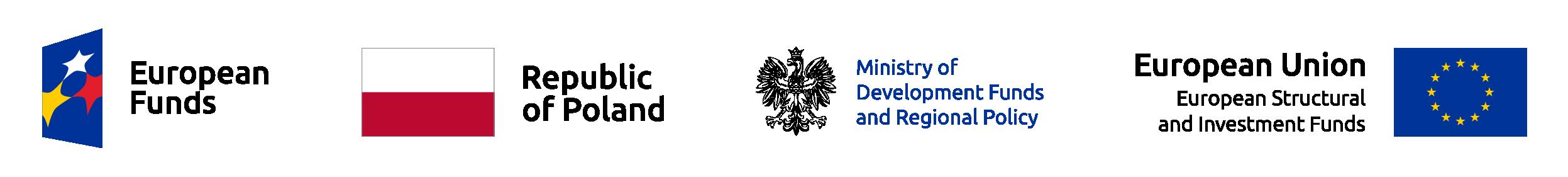 Angielska wersja zestawienia logotypów